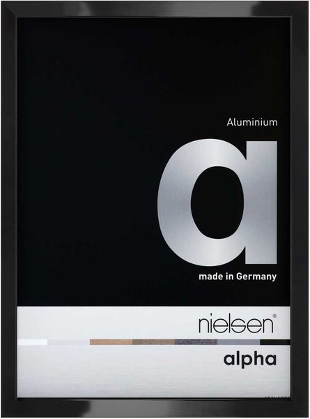 Nielsen Alpha 10X15 cm Jet Polished Black Picture Frame