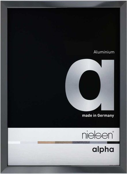 Nielsen Alpha 10X15 cm Dark Grey Polished Picture Frame