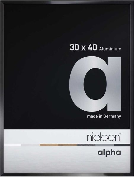 Nielsen Alpha 24X30 cm Jet Polished Black Picture Frame