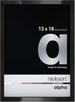 Nielsen Alpha 13X18 cm Jet Polished Black Picture Frame