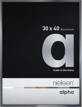 Nielsen Alpha 30X30 cm Dark Grey Polished Picture Frame