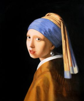 "The Girl With A Pearl Earring 20X24 "" Oil Painting"