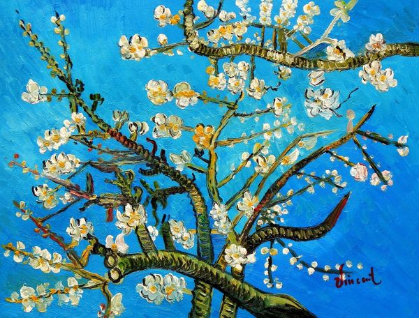 Vincent Van Gogh - Branches With Almond Blossom 30x40 cm Reproduction Oil Painting
