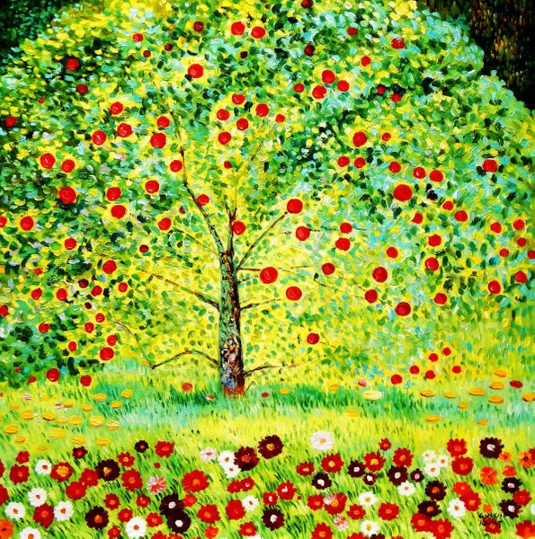 Gustav Klimt - The Appletree 120x120 cm Reproduction Oil Painting Museum Quality