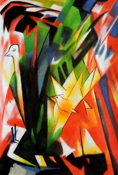 Franz Marc - Birds 60x90 cm Reproduction Oil Painting