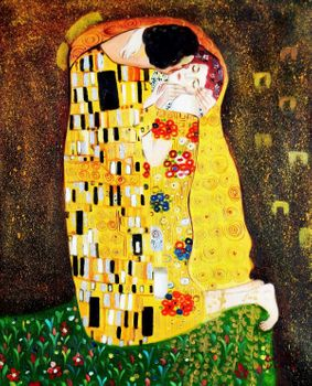 "Gustav Klimt - The Kiss 20X24 "" Oil Painting"