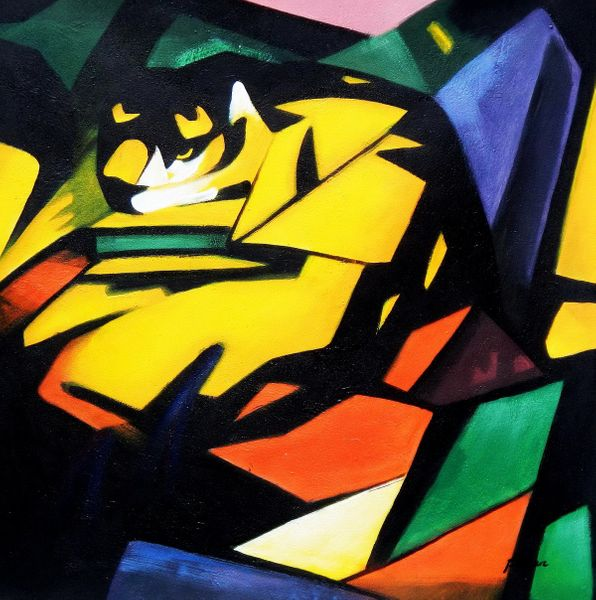 Franz Marc - The Tiger 80x80 cm Reproduction Oil Painting