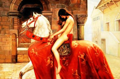 "John Collier - Lady Godiva 24X36 "" Oil Painting"