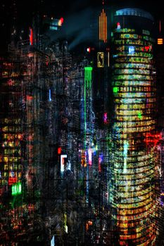 Night City VII-Limited Edition Print on Canvas by Neil Hemsley