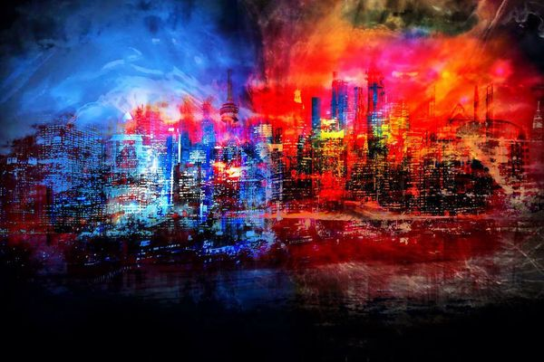 A tale of two cities-Limited Edition Print on Canvas by Neil Hemsley