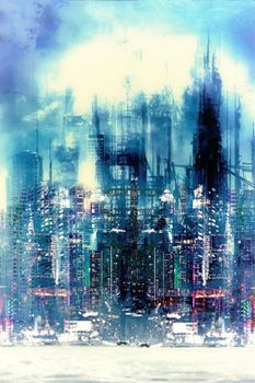 New City-Limited Edition Print on Canvas by Neil Hemsley
