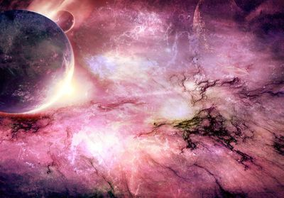 Purple nebula-Limited Edition Print on Canvas by Neil Hemsley