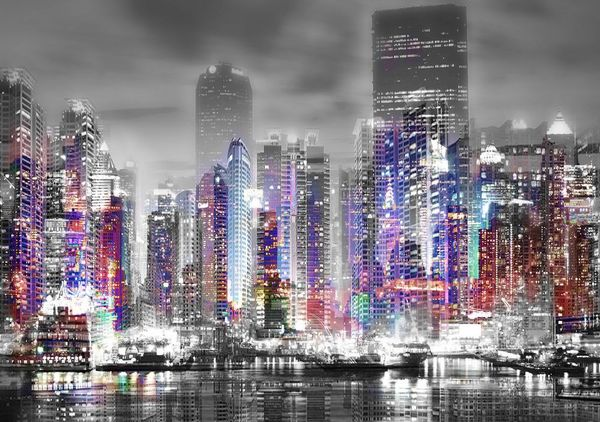 Night City-Limited Edition Print on Canvas by Neil Hemsley