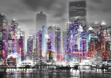 Night City-Limited Edition Print on Canvas by Neil Hemsley 001