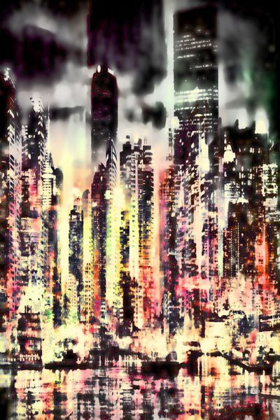 City Nights-Limited Edition Print on Canvas by Neil Hemsley