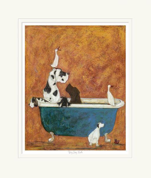 Big Dog Bath - Limited Edition Print by Sam Toft