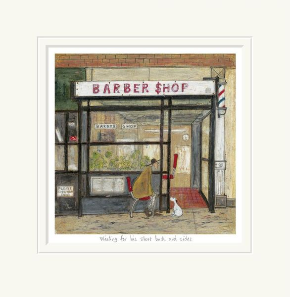 Waiting for his Short Back & Sides - Limited Edition Print by Sam Toft – image 1