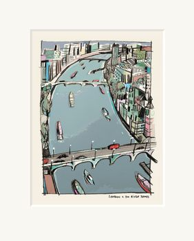 London & the River Thames - Limited Edition print by Anna Hymas