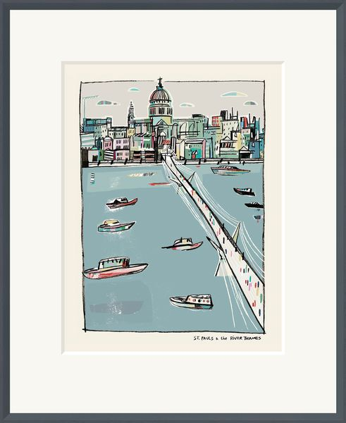 St. Paul's & the River Thames - Limited Edition print by Anna Hymas – image 2