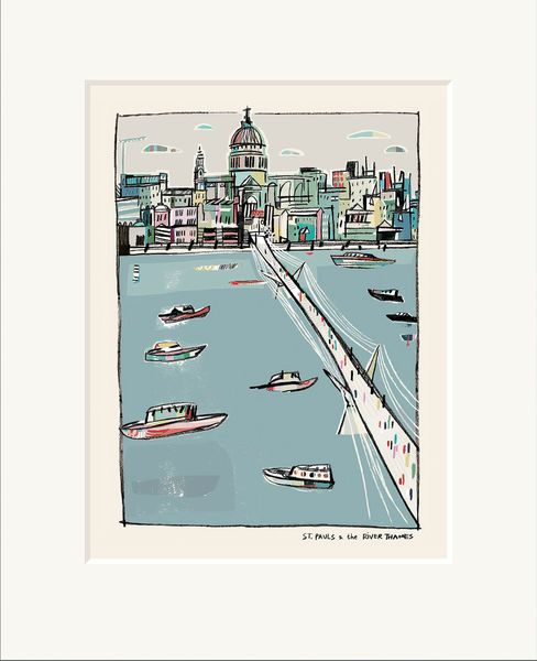 St. Paul's & the River Thames - Limited Edition print by Anna Hymas