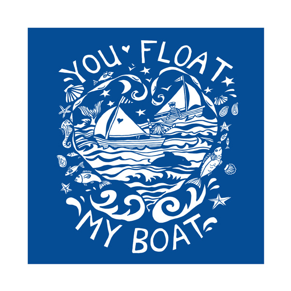 You Float my Boat Greetings Card by Kate Cooke for Port and Lemon