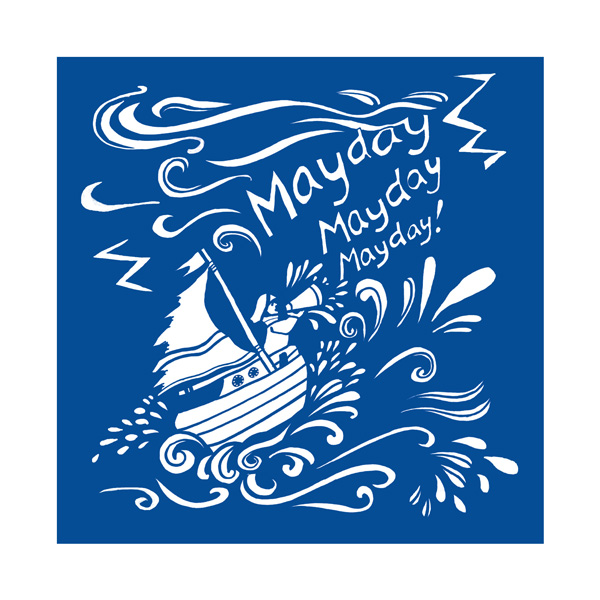 Mayday Mayday Greetings Card by Kate Cooke for Port and Lemon