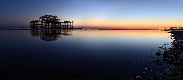 WestPierSunsetSea677 - Fineart Photography by David Freeman