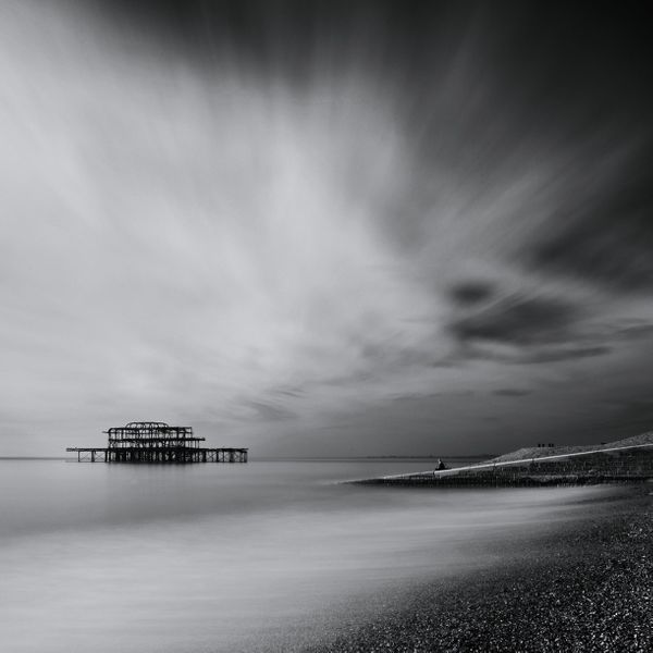 WestPierB&WSquareSea633b - Fineart Photography by David Freeman