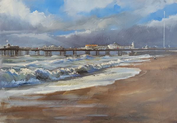 Palace Pier painting in oil by Tony Parsons