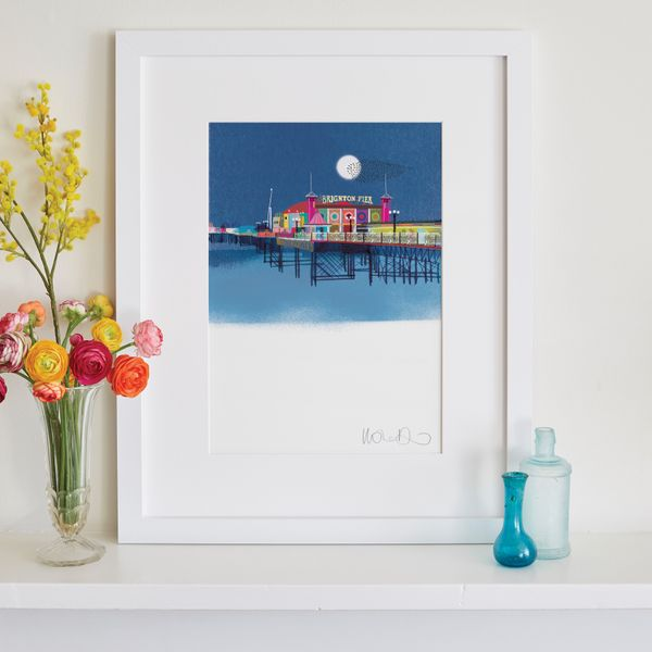 Palace Pier by night - giclee print A3 – image 2