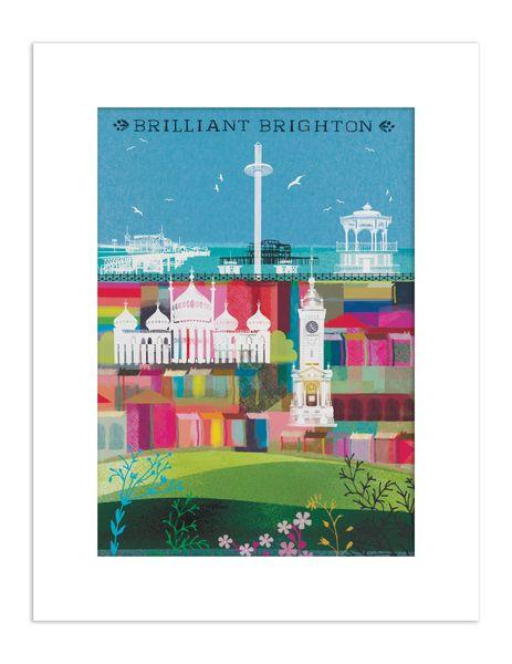 Brilliant Brighton  - giclee print A3 – image 1