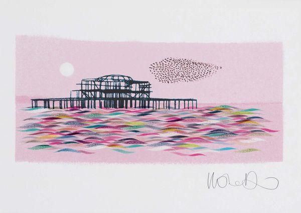 Brighton West Pier - giclee print A3 – image 3