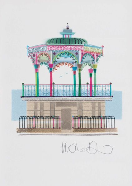 Brighton Bandstand - giclee print A3 – image 1