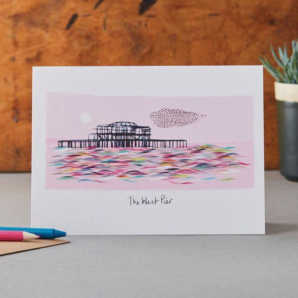 Brighton West Pier - Greeting Card