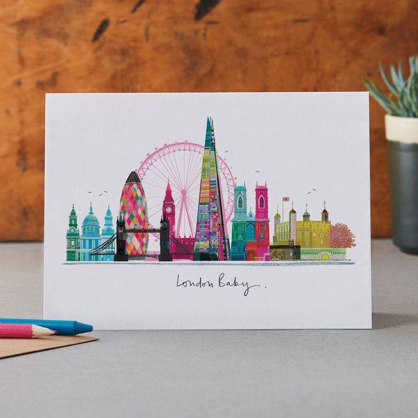 London Baby - Greeting Card