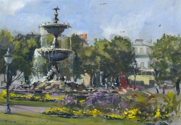 The Old Steine painting in oil by Tony Parsons