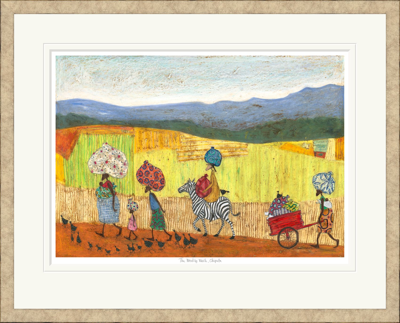 the weekly wash chipata limited edition print by sam toft