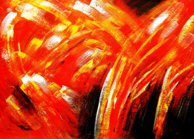 Abstract - Fire Sparks 80x110 cm Oil Painting