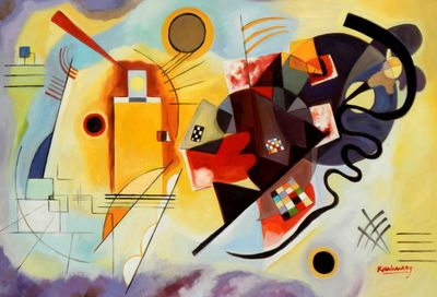 Wassily Kandinsky - Yellow Red Blue 60x90 cm Reproduction Oil Painting