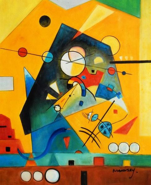 Wassily Kandinsky - Quiet Harmony 40x50 cm Reproduction Oil Painting