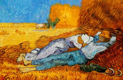 Vincent Van Gogh - Rest From Work 60x90 cm Reproduction Oil Painting 58701