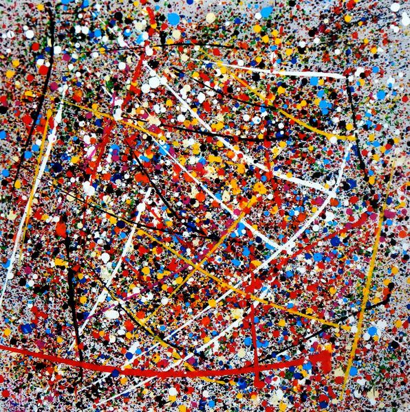 Homage To Pollock - Number 1 80x80 cm Reproduction Oil Painting 58709