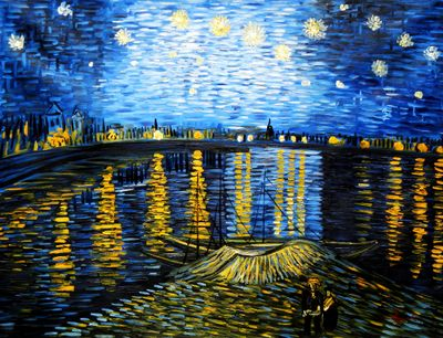 Vincent Van Gogh - Starry Night 90x120 cm Reproduction Oil Painting