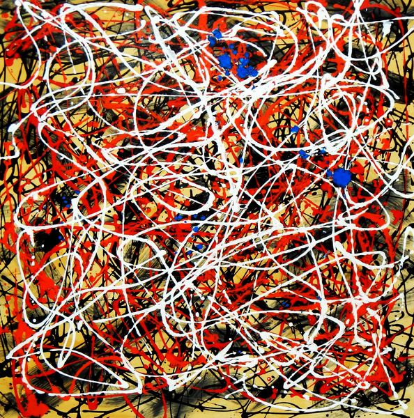 Homage To Pollock - Number 2 80x80 cm Reproduction Oil Painting 58783