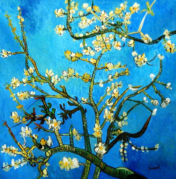 Vincent Van Gogh - Branches With Almond Blossom 120x120 cm Reproduction Oil Painting