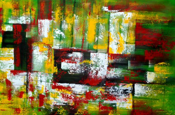 Abstract - Autumn In Hyde Park 120x180 cm Oil Painting 58792
