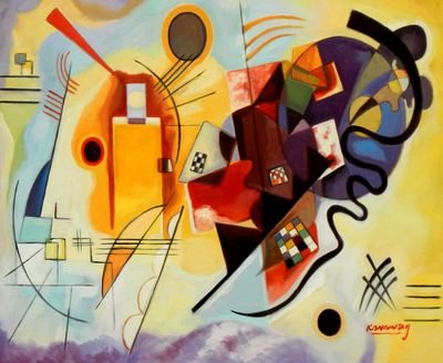 Wassily Kandinsky - Yellow Red Blue 50x60 cm Reproduction Oil Painting