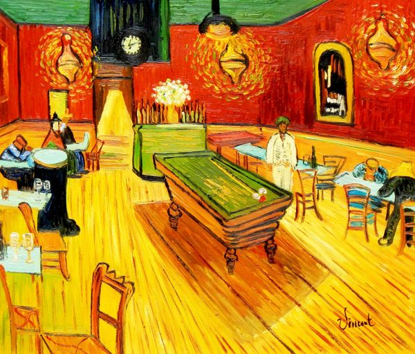 Vincent Van Gogh - Night Cafe - Arles 50x60 cm Reproduction Oil Painting