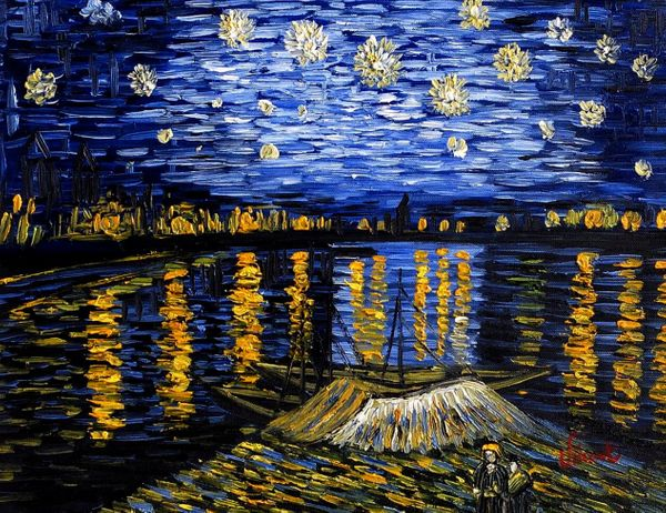 Vincent Van Gogh - Starry Night 30x40 cm Reproduction Oil Painting 58900