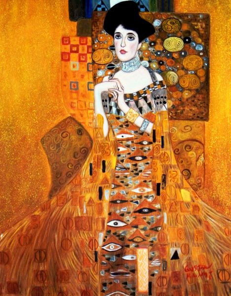 Gustav Klimt - Adele Bloch Bauer I 40x50 cm Reproduction Oil Painting 58937